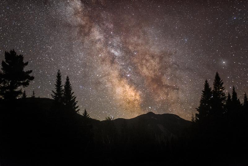Milky Way over Mount Colden