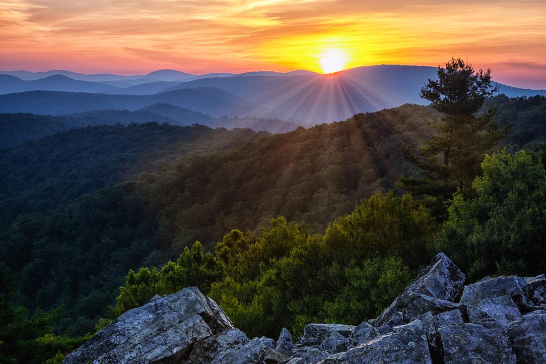 Sun Rising at Blackrock Summit