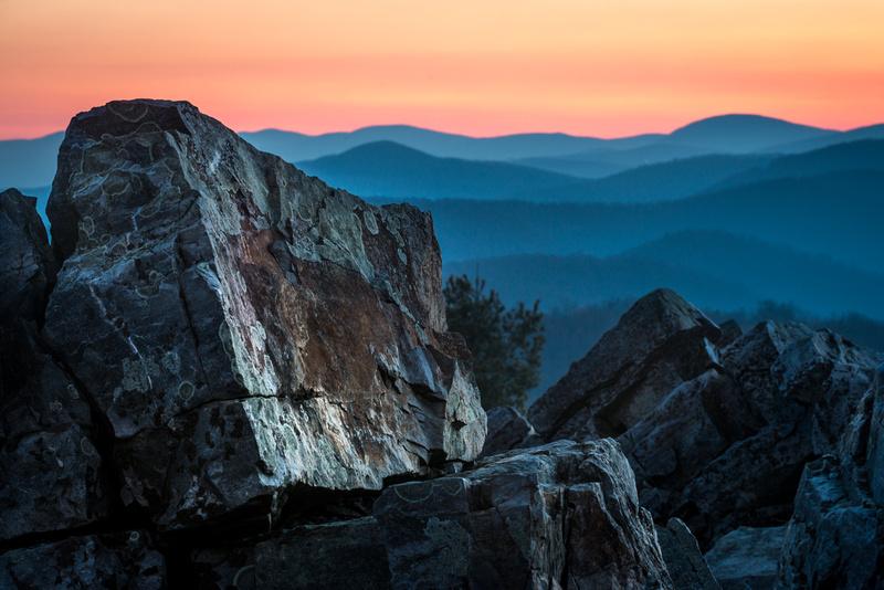 Sunrise atop Blackrock Summit