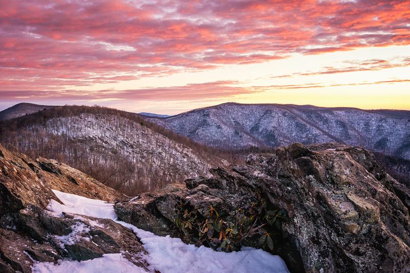 Snow Covered Bearfence Mountain