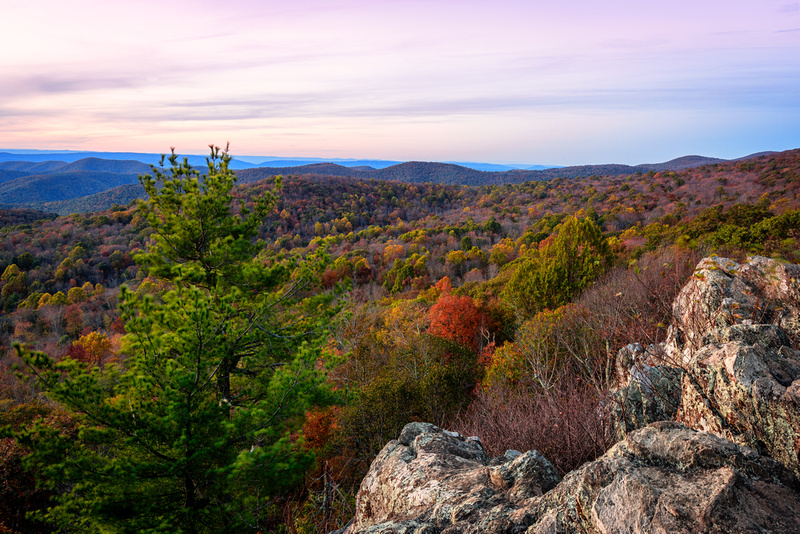 The Point Overlook During Fall