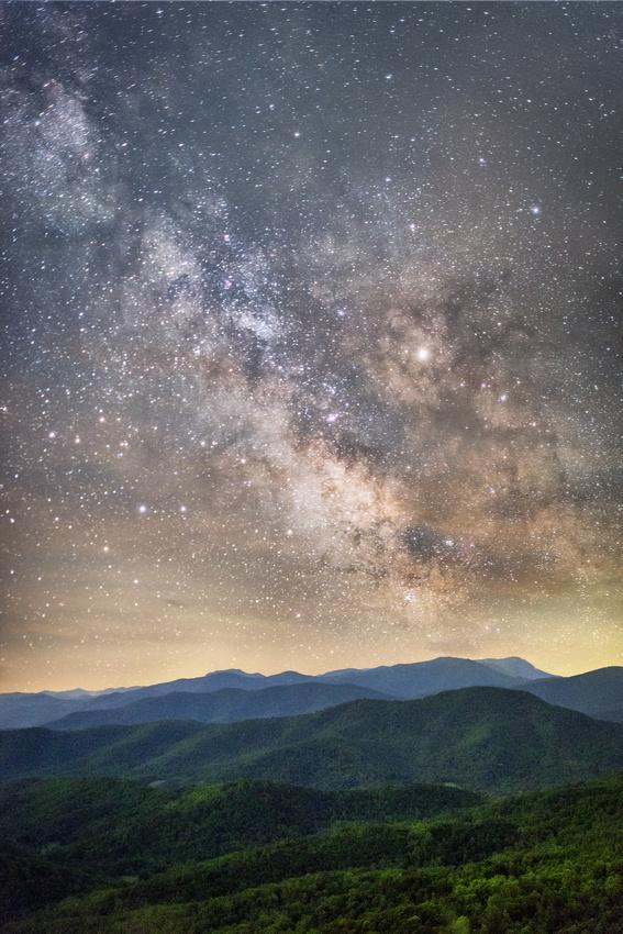 Milky Way Over Range View Overlook