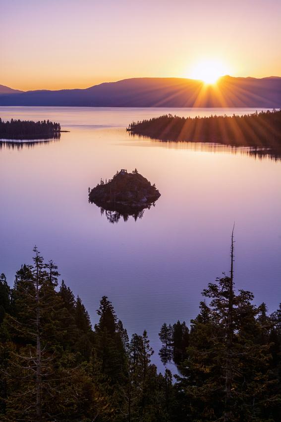 Lake Tahoe's Inspiration Point Sunrise