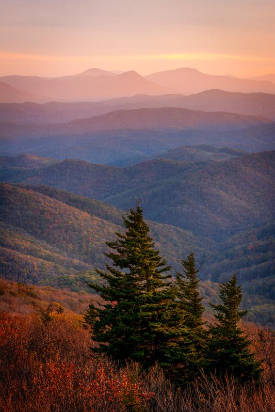 Little Pinnacles Fall Sunset