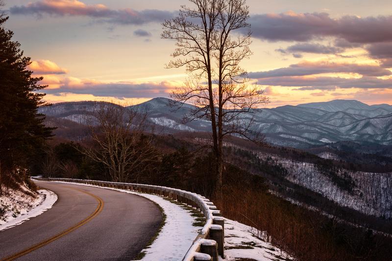 Sunset Along the Blue Ridge Parkway
