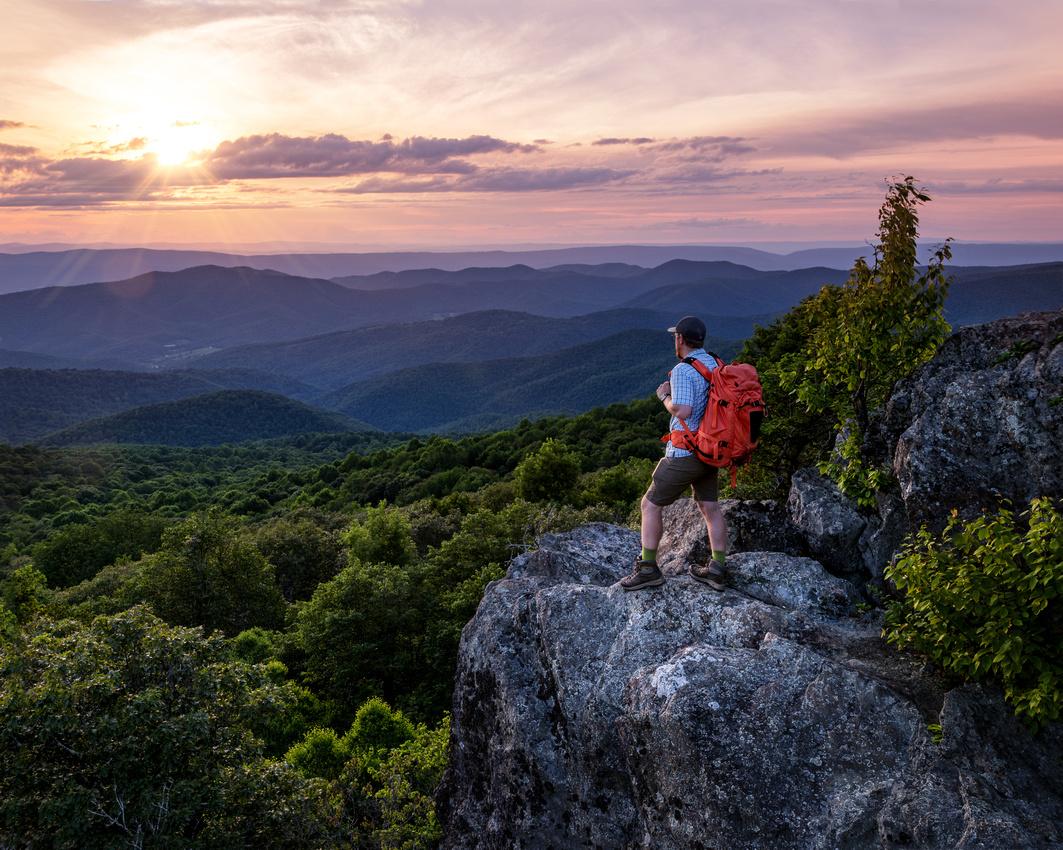 Hiker in Shenandoah National Park