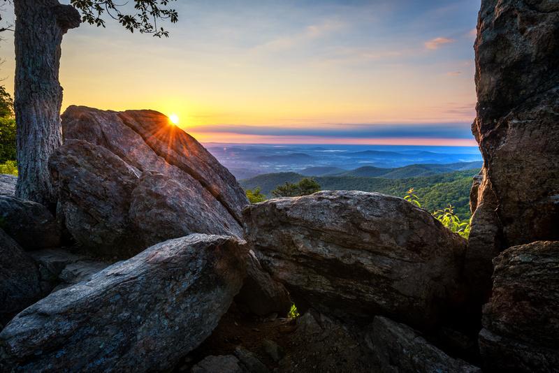 Sunstar at Hazel Mountain Overlook