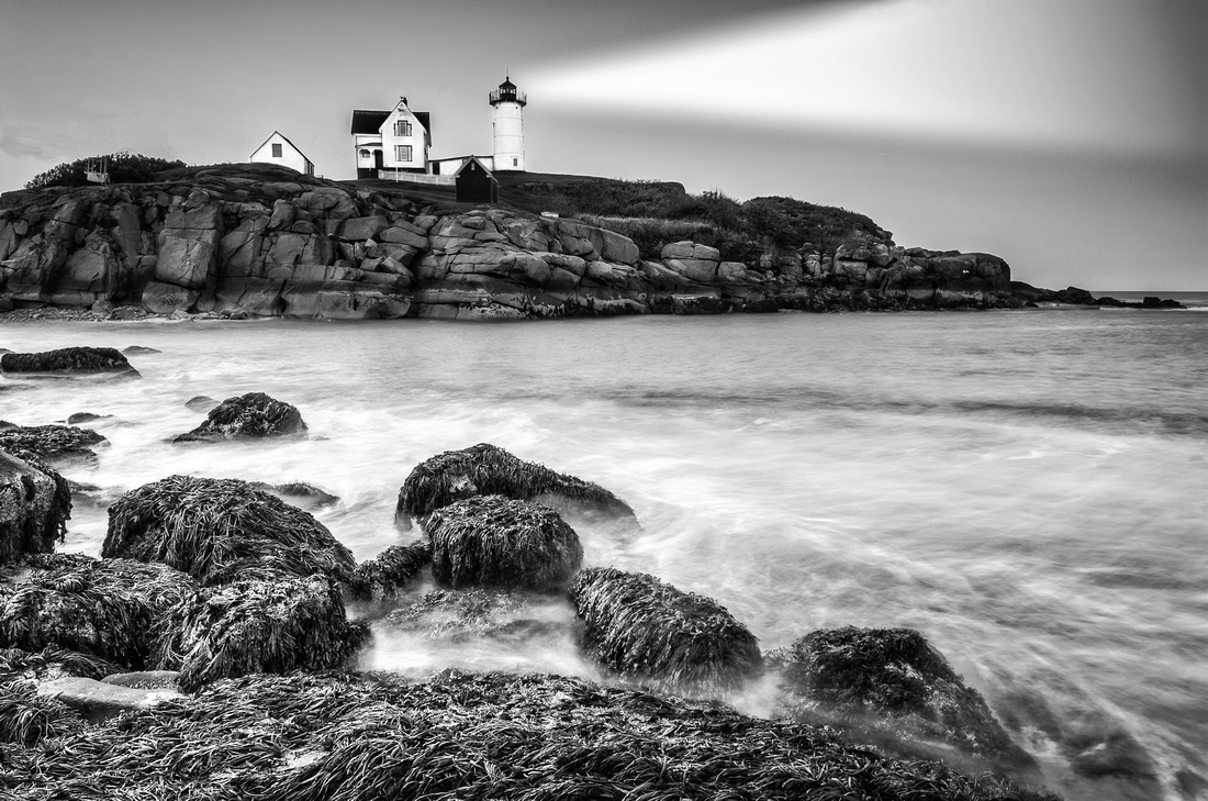 Nubble Light, ME B&W