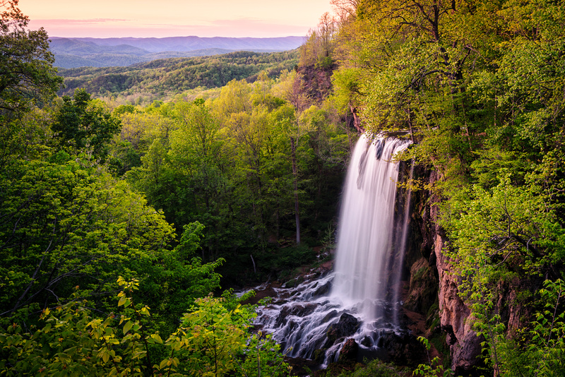 Sunset at Falling Spring Falls