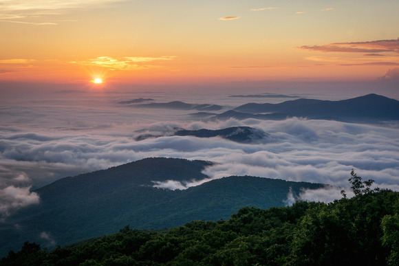 Sunrise at Humpback Rock