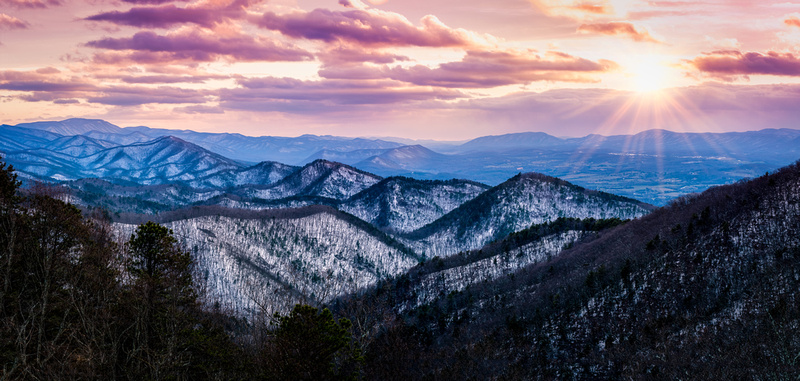 Chimney Rock Mountain Overlook Pano