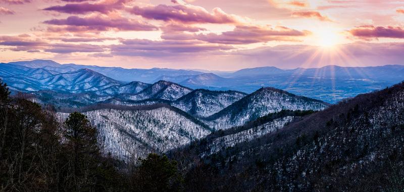 Chimney Rock Mountain Overlook Pano