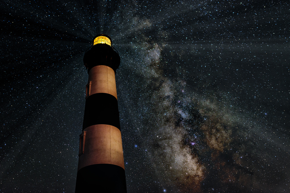 Milky Way over Bodie Lighthouse