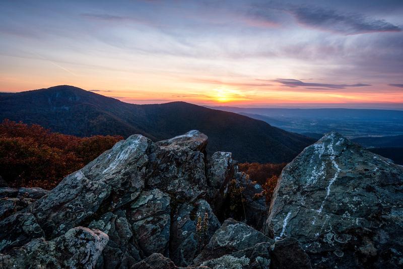 Sunset at Betty's Rock